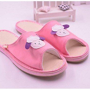 zhENfu donna pantofole & amp; flip-flops Comfort tela Casual rosa nero caffè Blushing Pink