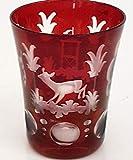 Egermann Schnapsglas antik Stamper, Likörglas Glas böhmisches Glas rubin rot Antik Glas Sammler Glas gebraucht Zustand wie neu Höhe ca. 5,5 cm