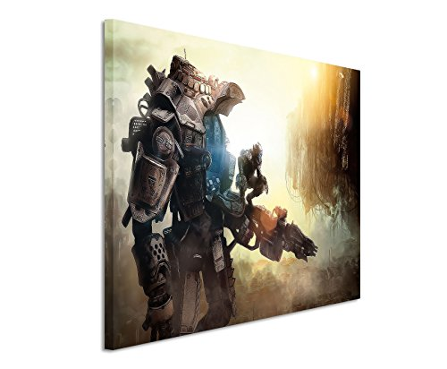 Titanfall _ Lotta _ Robot _ 120x 80cm Tela Artistica Da Parete con stampa artistica su vera tela come un quadro da parete su telaio