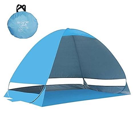 samrish Outdoor Automatische Pop Up Beach Zelt 2–3Personen Shade Shelter mit Anti UV, Super einfach Setup für Angeln, Meer, Park, Yard (blau)