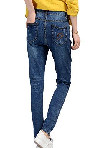DQQ Damen Jeanshose Blau