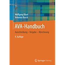 AVA-Handbuch: Ausschreibung - Vergabe - Abrechnung