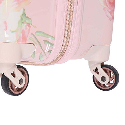 Aerolite 69cm Leichtgewicht Polykarbonat Hartschale 4 Rollen Reisegepäck Trolley Koffer, Rosa Blumendesign - 5
