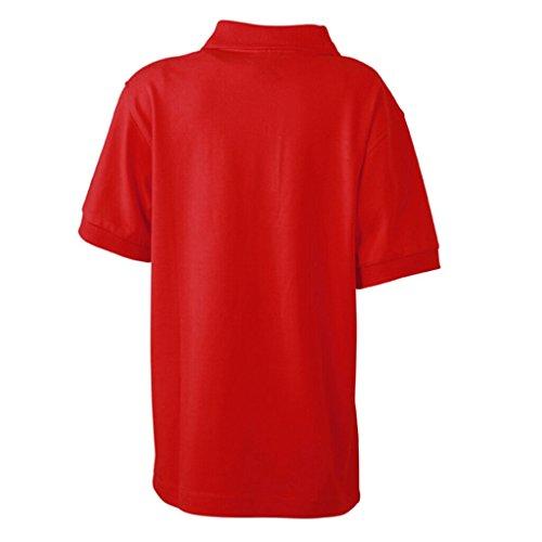 JAMES & NICHOLSON Hochwertiges Polohemd mit Armbündchen für Kinder Red