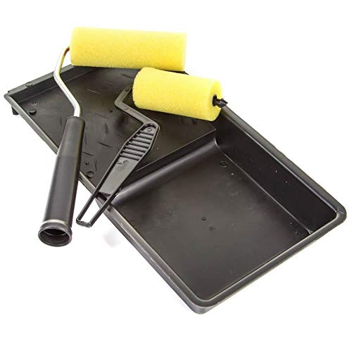 Guilty Gadgets ® Mini-Schaumstoff-Malerpinsel, klein, schmal, Dekorationsset, Werkzeugablage, Flache Oberfläche, Malen/Dekorator-Emulsion -
