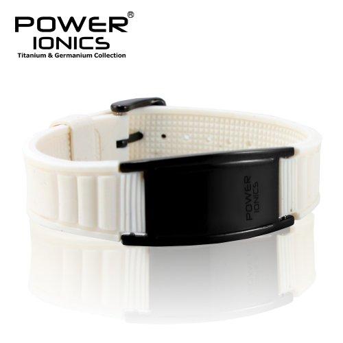 Power Ionics Bracelet Armband Powerarmband PowerIonics Ionenarmband Energie Wristband Magnet Armband 3000 Ions Smart Sports Bracelet Wristband PT002 (white)