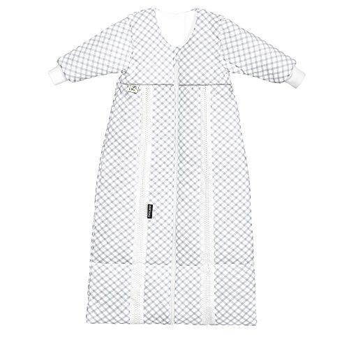 Odenwälder PrimaKlima Jersey/Thinsulate-Schlafsack Check Light Grey, Größe in cm:90-110
