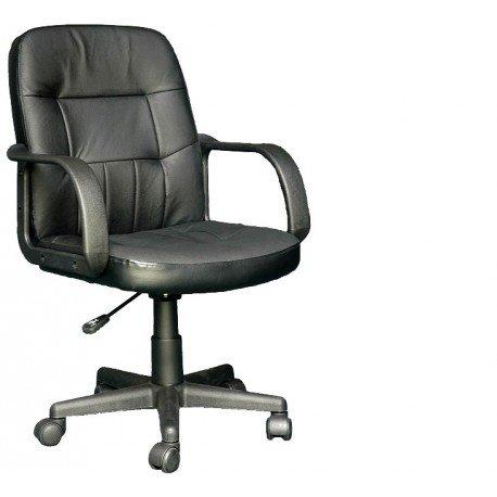 AVANTI TRENDSTORE Sedia ufficio girevole nera con braccioli, regolabile, nero, null, altezza_regolabile