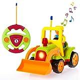 SGILE Macchina Telecomandata per Bambini, Mini Auto da Corsa Automobile ,Giocattolo RC Telecomandati con Musica e Luci Anteriori per Bambini e Ragazzi Verde Chiaro