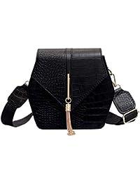 be110ce1c Djkaa Cocodrilo de la PU de cuero bolsas de hombro para las mujeres de  metal de la borla de la decoración del cerrojo…