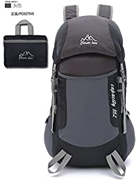hongrun La luz Ultra-Bolso Plegable Exterior Doble de Hombres y Mujeres montañismo Bolsa de