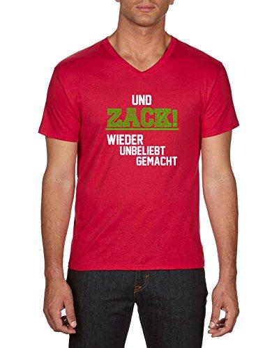Touchlines Und Zack Wieder Unbeliebt Gemacht, T-Shirt Uomo Rosso (Red 08)