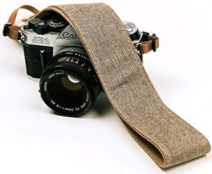 brauner jeans kameragurt echter denim gürtel für alle dslr kameras. Universal-SLR-Riemen im Jeans-Stil, Schultergurt für Canon, Nikon, Pentax, Sony, Fujifilm und Digitalkamera