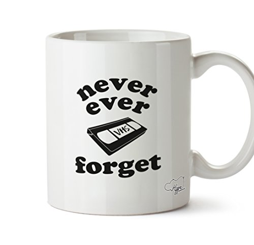 Never Ever Forget VHS Ceramic Mug 10oz