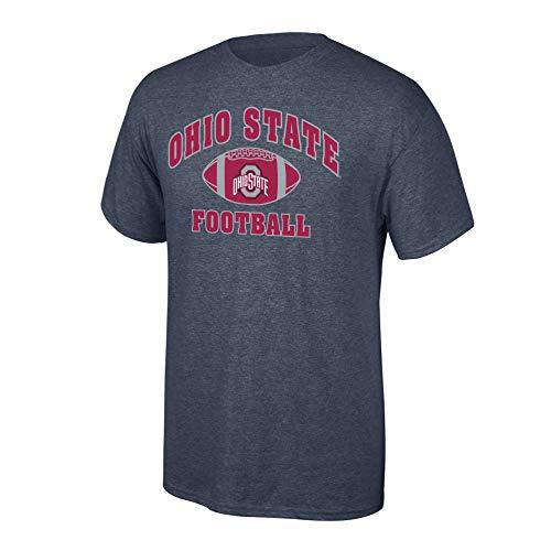 eLITe Fan Shop NCAA Men's Ohio State Buckeyes Football T-Shirt Dark Heather Ohio State Buckeyes Dark Heather Small (State Football-t-shirt Ohio)