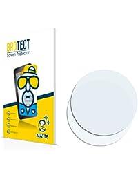 2x BROTECT Matte Protector Pantalla para Relojes (circular, Diámetro: 36mm) Protector Mate, Película Antireflejos