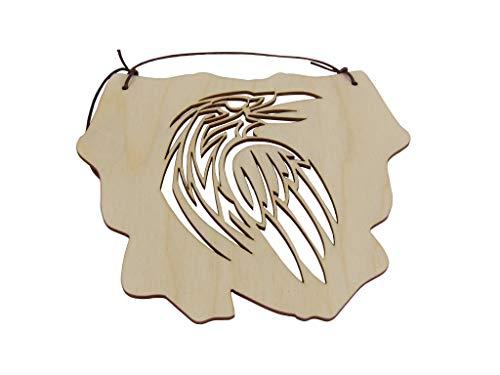 Kreativknoten Aufhänger - Schild/eine ausgefallene Dekoration mit tollen Schnittmuster Tiermotiv Rabe