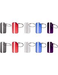 Vancool (10 paquetes) Etiqueta de identificación del equipaje del recorrido del metal, accesorios de las etiquetas del equipaje