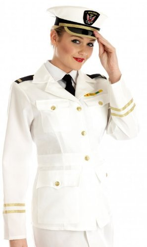 Fun Shack Adult 1940s Lady Naval Officer Costume -