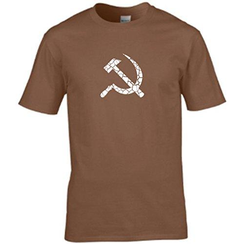 S Tees Herren T-Shirt Braun - Braun