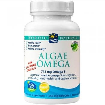 Nordic Naturals Algae Omega, 650mg, 120 capsules