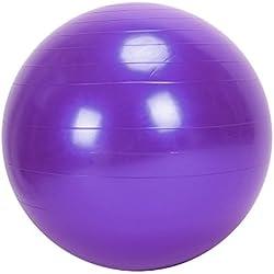 GOTOTOP Grande 75cm Ejercicio de Yoga Pelota de Gimnasio Antideslizante Aptitud Abdominal Anti Estallido (Púrpura)