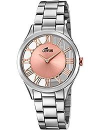 7851c981a418 Lotus Reloj Analógico para Mujer de Cuarzo con Correa en Acero Inoxidable  18395 3