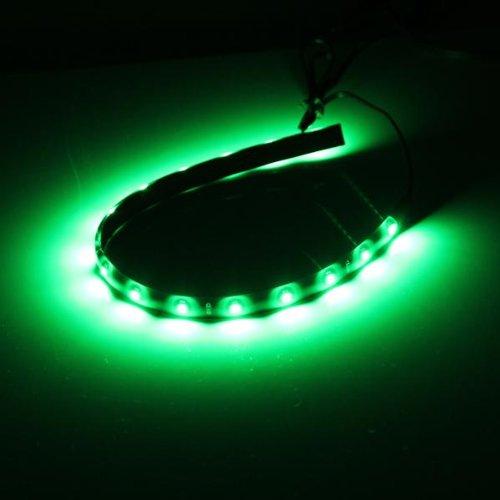 Preisvergleich Produktbild Ecloud Shop 4 Auto KFZ 15 LED Lichterkette 30cm Strips Streifen Licht Kette Grün 12V