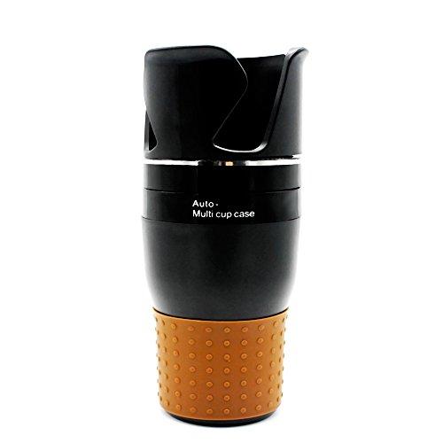 KKmoon Multifunktionale Auto Essen Trinken Becherhalter Tragbare Fahrzeug Zentrale Sitz Tasse Handy Getränkehalter Veranstalter 360 Grad-umdrehung Auto Aufbewahrungsbox