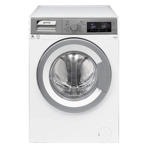 Smeg WHT914LSIT-1 Libera installazione Carica frontale 9kg 1400Giri/min A+++ Cromo, Bianco lavatrice