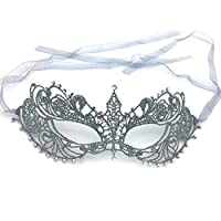 XER Halloween Mask, Creative Classic Wild Single Size, for the Disguised Night, Halloween, Halloween Decorations Eye Mask, Party,Silver,A