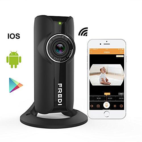 FREDI 1080Pixel HD Wlan IP kabellos Überwachungskamera Haustier Kamera IP Kamera Sicherheitskamera IP Cam Panorama Bewegungserkennung Handyzugriff innenbereich - Usb-cam-software