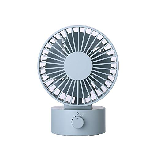 Kompakte Größe Desktop Energy-Saving Fan Super Quiet wiederaufladbar Tabletop Mini tragbar Fan Best Gifts - Blau - Tragbare Tabletop-fan