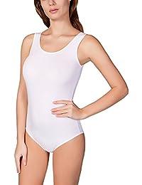 VEDATS Damen Body Träger Top Bodysuit Unterhemd Achselhemd