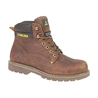 Amblers Mens Dorking Mens Boot Brown Crazy Horse Leather Lace Up Casual Boot 9