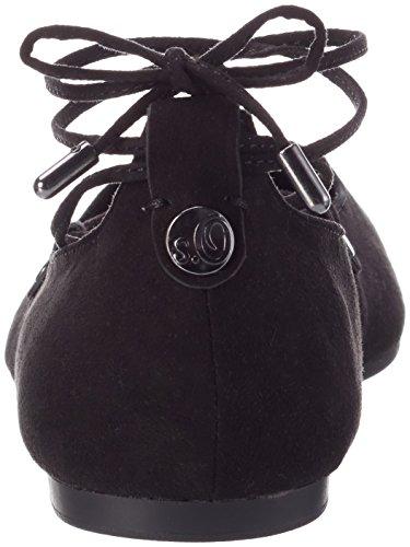s.Oliver Damen 22108 Geschlossene Ballerinas Schwarz (Black 001)