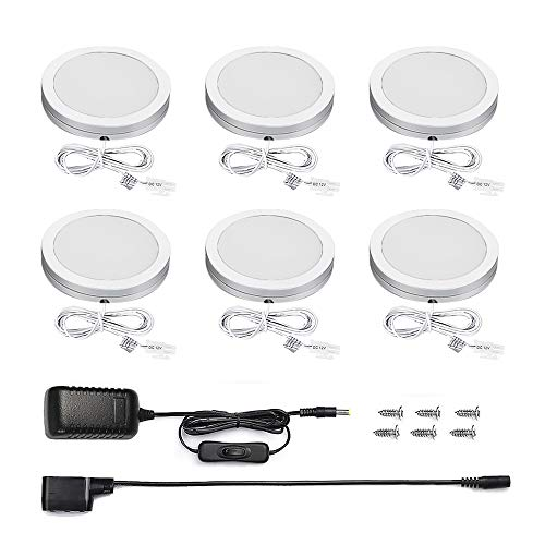 B-right LED Under Cabinet lumières, Non-dimmable, Non-dimmable 6 Pack