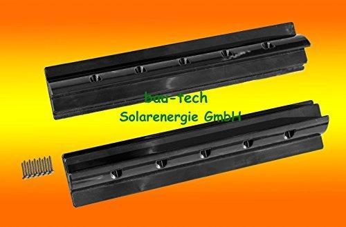 2 x Dachspoiler 55cm schwarz Haltespoiler Wohnmobil Dachbefestigung für Solarmodul von bau-tech Solarenergie GmbH