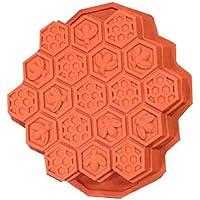 Nikgic - Molde de Pastel Silicona - Modelado de Nido de Abeja - Molde Reutilizable para