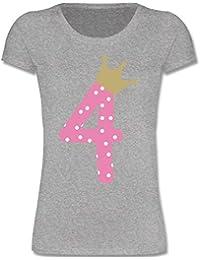 Geburtstag Kind - 4. Geburtstag Krone Mädchen - Mädchen T-Shirt