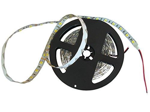 Ruban LED 5050 DC 24 V 75 W - 300 LED de différentes couleurs non étanches - Haute luminosité - 5 m Bianco Caldo 3000-3500k