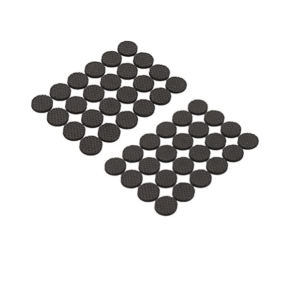Vosarea 36pcs 2.5cm Non Slip Pads Rubber Feet Floor Protectors for Keep in Place Furniture Stoppers, Black - Stops Slide - Anti Slip