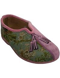 Zapatilla cerrada con abertura en el empeine Alberola en rosa