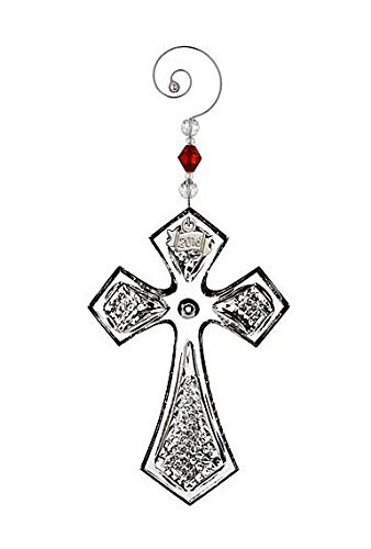 Waterford 2016 Annual Cross Religious Crystal Christmas Ornament Decoration New Waterford Crystal Cross