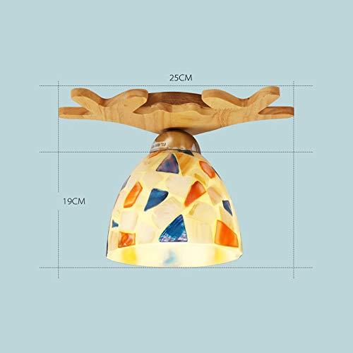 Deckenleuchten Unterputz Massivholz Glaslampen Wohnzimmerlampen Leuchten Flurleuchten Sonnenbrillen Massivholzlampen (Größe: A)
