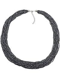 BOCAR Collar Largo de múltiples Filas Hecho a Mano con Cuentas DE 83,8 cm para Mujer con Caja de Regalo