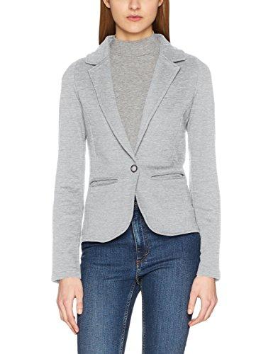 ONLY Damen Anzugjacke Onlclaudia L/S Blazer SWT, Grau (Light Grey Melange), 40 (Herstellergröße: L)