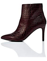 find. High Point Botines, Rouge (Burgundy Croc), 36 EU