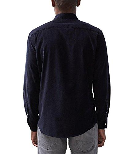 ESPRIT Herren Tapered Hose aus Cord Blau (Navy 400)