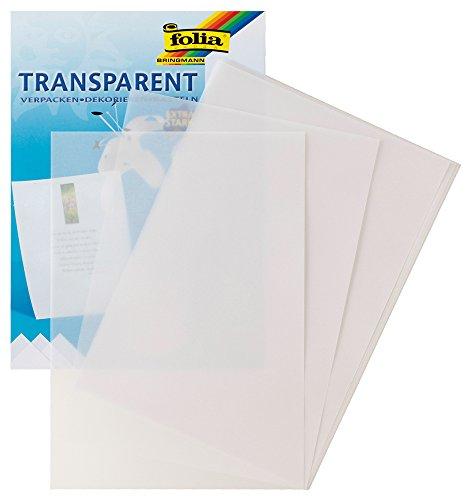 folia Transparentpapier, DIN A4, 10 Blatt, weiß
